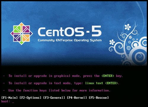 CentOS graphical boot splash
